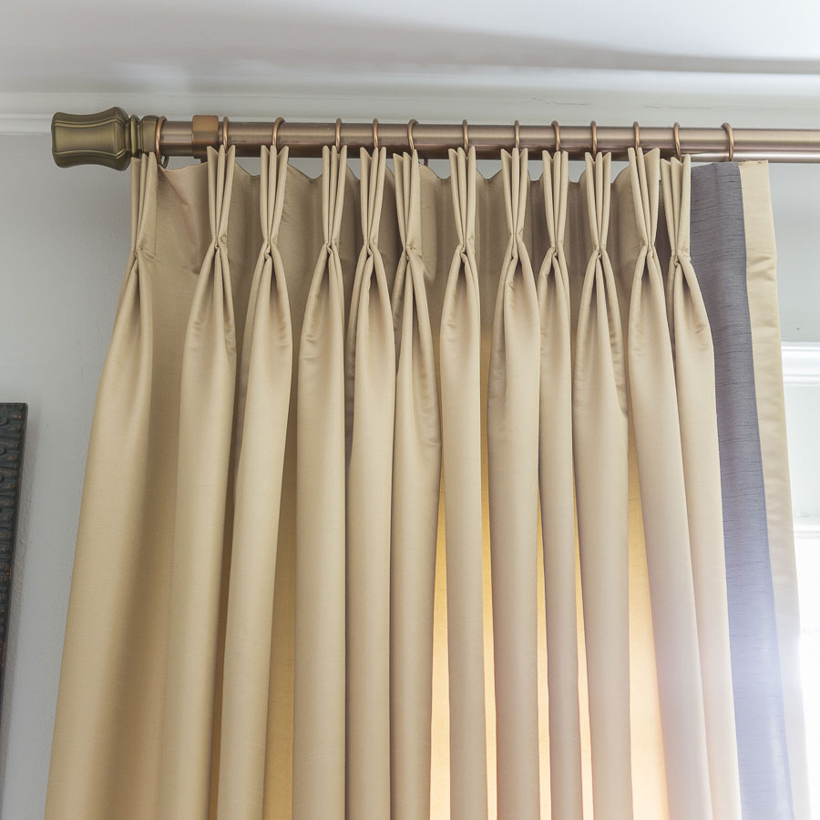 Curtain rod detail with custom drapes